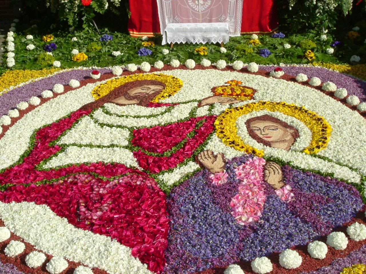 Blumenteppiche Fronleichnam