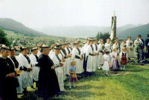 Feierliche Andacht in Saulgrub - Klick mich zum vergrössern