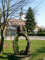 Klick mich zum vergrößern - - Osterbrunnen in Mehltheuer